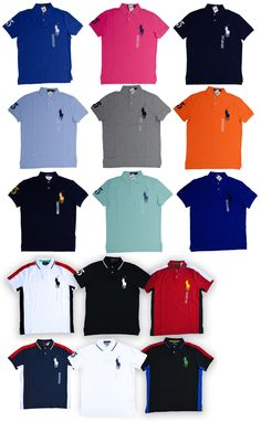 083903419 Polos 185101  Men S Polo Ralph Lauren Polo Shirt Big Pony Cotton Mesh  Custom Fit Size S-2Xl -  BUY IT NOW ONLY   54.5 on eBay!