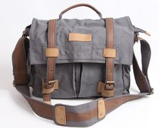 Smoke Gray Large Canvas Camera Bag DSLR Camera Bag Outdoor Camera Bags Camera Messenger Bag  BBK-4 on Etsy, $54.00