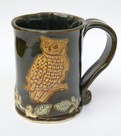Hand+Made+Ceramic+Owl+Mug+12oz+Made+to+order+by+artsylois+on+Etsy,+$20.00