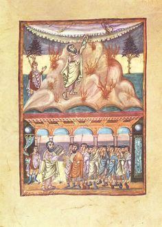 Karolingischer Buchmaler um 840 002 - List of key works of Carolingian illumination - Wikipedia British Library, Book Of Deuteronomy, Bible Isaiah, Hebrew Bible, Apocalypse, Grace Alone, Carolingian, Ten Commandments, The Deed