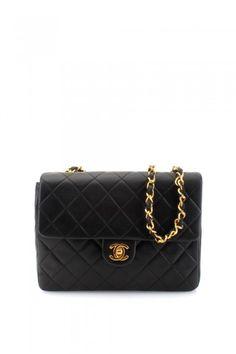 Chanel Black Lamb Small Half Flap