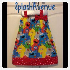 Sesame Street Elmo Cookie Monster Dress