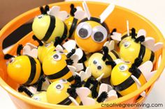 Creative Green Living: Bee Party Activity: Host a Bee Hunt! (Plus How to Make Bees from Easter Eggs)