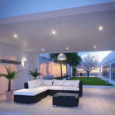 Modway Hampton 6 Piece Outdoor Patio Sectional Set
