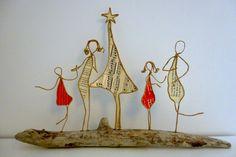 En attendant Noël - figurines en ficelle et papier : Accessoires de maison par ficelleetpapier