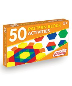 Shop for Junior Learning 50 Pattern Block Activities Set. Get free delivery On EVERYTHING* Overstock - Your Online Toys & Hobbies Shop! School Fun, Primary School, School Stuff, Teaching Math, Learning Activities, Study Helper, Alphabet, Rainbow Resource, Math Manipulatives