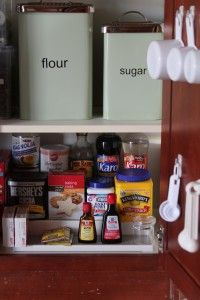 Reorganizing 2012- The Baking Supply Cupboard