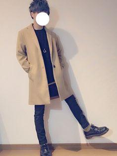 黒できっちりキメることで、キャメルの良さがでまくり!! 今期、二着目のチェスターコート ホワイトや
