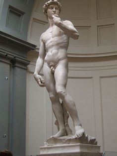 Michaelangelo's David- one of the, if not the most amazing works of art I have EVER seen!