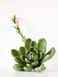crepe paper succulent.. one of the best I've seen…