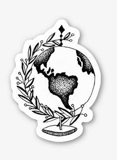 Vinyl Globe Sticker