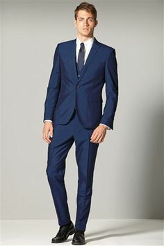 Buy Signature Grey Texture Tailored Fit Suit: Jacket from the Next