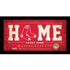 Steiner Boston Sox 10x20 Home Sweet Home Sign with Game-Used Dirt from Fenway Park