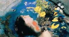 Odilon Redon; Ofelia; 1900 ca.; pastello su carta fissa su tavola; Collezione privata.