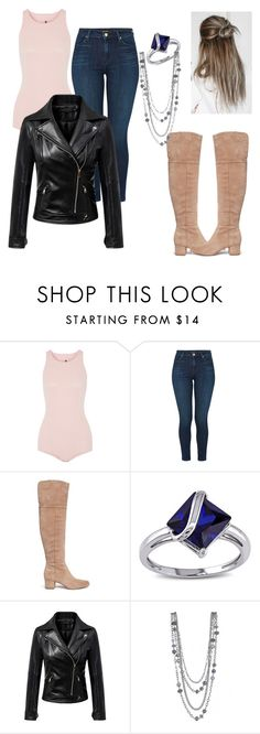"""TVD 8X04"" by laryssateixeiraa ❤ liked on Polyvore featuring Rick Owens, J Brand, Sam Edelman, Miadora and Chicnova Fashion"