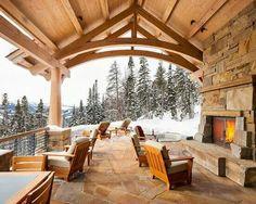 Lodge style patio