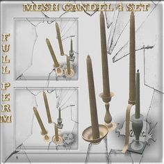 Mesh Candel 4 set  Full perm