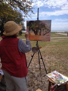 painting a live oak