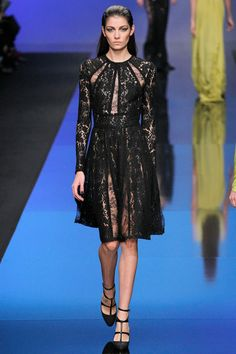 Elie Saab Fall 2013 Ready-to-Wear Collection. We love the structured lace panels of this dress