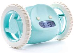 Get a Clocky, the alarm clock that runs away when you press snooze. | 11 Surefire Ways To Get Your Ass Out Of Bed