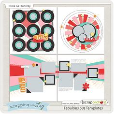 A pack of FREE digital scrapbok templates! {Limited Time!}