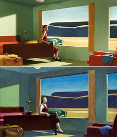 If It's Hip, It's Here (Archives): 13 Edward Hopper Paintings Are Recreated As Sets For Indie Film 'Shirley - Visions of Reality. Shirley Visions Of Reality, Hooper Edward, Edward Hopper Paintings, Tableaux Vivants, Equine Art, Wassily Kandinsky, Art Plastique, Vincent Van Gogh, American Artists