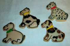 We prepare these made-from-scratch PUPPY COOKIES with our delicious butter/sugar cookie recipe. Then they are iced and decorated by hand with Royal Icing!