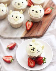 Cut Lama Cupcakes von Michelle Lu ( - Rich Design Co - Pin Kid Cupcakes, Birthday Cupcakes, Cupcake Cakes, Cute Food, Yummy Food, Llama Birthday, Gateaux Cake, Snacks Für Party, Eat Cake