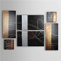 Hand-painted Abstract Oil Painting with Stretched Frame - Set of 6 - See more at: http://homelava.com/en-hand-painted-abstract-oil-painting-with-stretched-frame-set-of-6-nbsp-p11053.htm#sthash.qyQRhKs7.dpuf