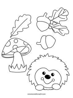 House of handicrafts. Handicraft, design and D Autumn Crafts, Fall Crafts For Kids, Autumn Art, Thanksgiving Crafts, Art For Kids, Felt Patterns, Applique Patterns, Fall Halloween, Halloween Crafts