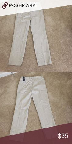 Jones NY stretchy straight leg Pants New with tags, inseam 31 inches, stone color Jones New York Pants Straight Leg