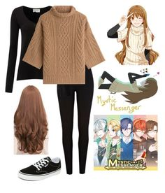 """""""Mystic Messenger - Mc"""" by trinity-franta ❤ liked on Polyvore featuring River Island, Sankins, American Vintage, MaxMara and Vans"""