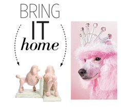 """""""Bring It Home: Rosey The Poodle Bookends"""" by polyvore-editorial ❤ liked on Polyvore featuring interior, interiors, interior design, home, home decor, interior decorating, HomArt and bringithome"""