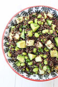 Quinoa Salad with Edamame, Cucumber Avocado