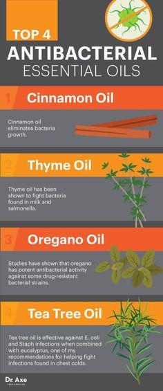 Top four antibacterial essential oils - Dr. Axe http://www.draxe.com #health…