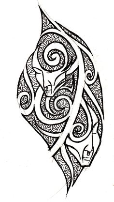 gemini - tribal tattoo concept by VanS3n.deviantart.com on @deviantART