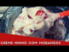 CREME DE NINHO COM MORANGOS - RECHEIO PARA BOLOS, TORTAS, BOLO NO POTE E OUTROS - YouTube Croissant, Relleno, Mousse, Ice Cream, Sweets, Meat, Chicken, Desserts, Food