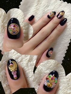 beautiful sailor moon inspired nails