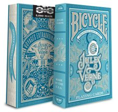 Bicycle Jules Verne Playing Cards-You are looking to buy 1 brand new of Bicycle Jules Verne Playing Cards. Bicycle Deck, Bicycle Cards, Bicycle Playing Cards, Cool Playing Cards, Cool Cards, Jules Verne, Aces And Eights, Board Game Design, Deck Of Cards