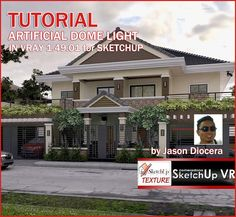 tutorial vray 1.49 for sketchup artificial dome ligth_cover. Really nice way to use HDRI on the dome light
