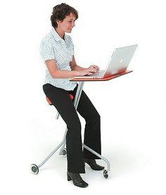 Mobile Computer Desk, Computer Desk Design, Mobile Desk, Mobile Office, Computer Workstation, Portable Laptop Table, Laptop Desk, Laptop Stand, Cool Office Gadgets