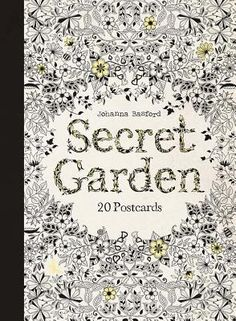 We Just Got The New Secret Garden POSTCARD BOOKLETS Each Book Includes 20 Postcards That Are Ready To Color Standard Postcard Size X Available At Our Ben