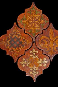 Not sure if these are actual Medieval tiles or just made to look like them. Still very striking,