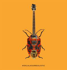 Ohlala Mashup design - surrealism #mashupdesign #mixdesign #objetdetourné #designers #startuplifestyle #designart #rocknroll #insect #designobject #photomanipulation #designobsessed #rock #musique #directionartistique #artisticdirection #frenchblogger #hardrock #graphicdesign #springcollection #graphistefreelance #saxo #guitare #guitareelectrique #lamusique #designcommunity #designconcept #ohlalasurrealistic