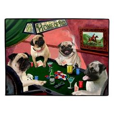"Home of Pugs 4 Dogs Playing Poker Floormat 18"" x 24"" by Doggie of the Day, http://www.amazon.com/dp/B00AWUIWDK/ref=cm_sw_r_pi_dp_8Iv6rb1RFYS0P"