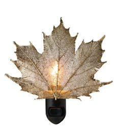 And a gold-covered leaf nightlight. | 27 Products For People Who Are Completely Obsessed With Fall