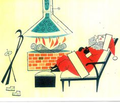 mid century santa-- from a great Christmas card site