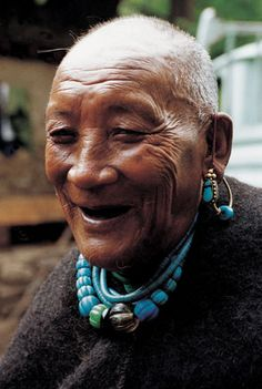 Tibet | Dongnyang, a Lhoba tribal chieftain who is 101 years old. | SOINAM NORBU