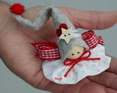 Christmas Fairy Angel Tree Decoration Ornaments // Nordic S Painted Christmas Ornaments, Small Christmas Trees, Christmas Fairy, Easy Christmas Crafts, Etsy Christmas, Christmas Bells, Felt Christmas, Christmas Angels, Christmas Tree Decorations