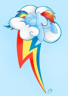 Rainbow Dash by FinalflyfarArt on Etsy, £2.00